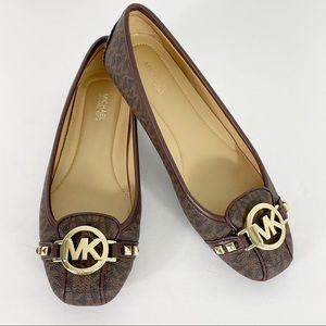 NWOB Michael Kors Fulton Flats Logo Loafers 7